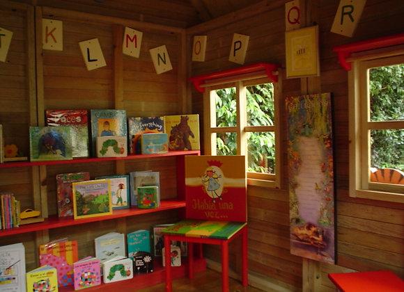Mobiliario Infantil - Librera de 03 repisas larga