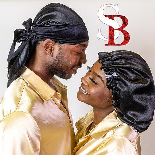 Bonnet & Durag Set - Black
