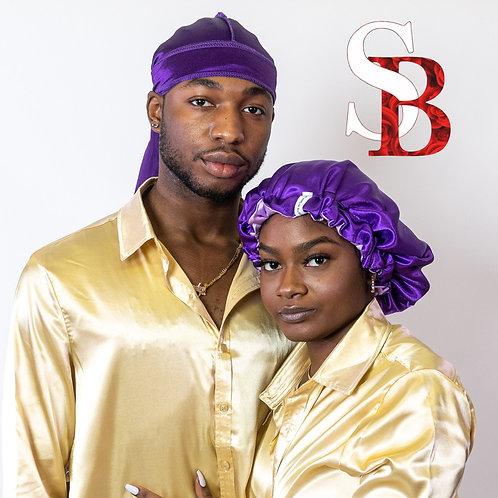 Bonnet & Durag Set - Purple