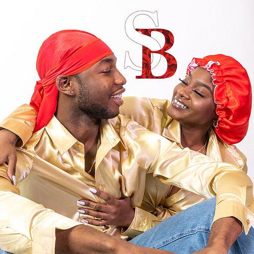 Bonnet & Durag Set - Red
