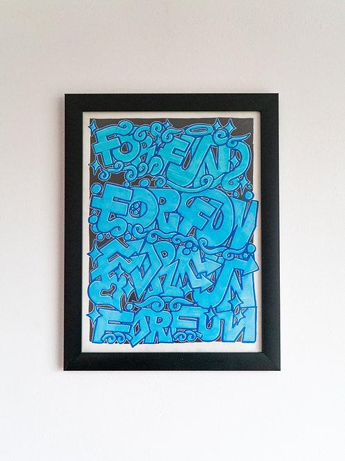 'FORFUN' blue - A3 sketch by Meganice