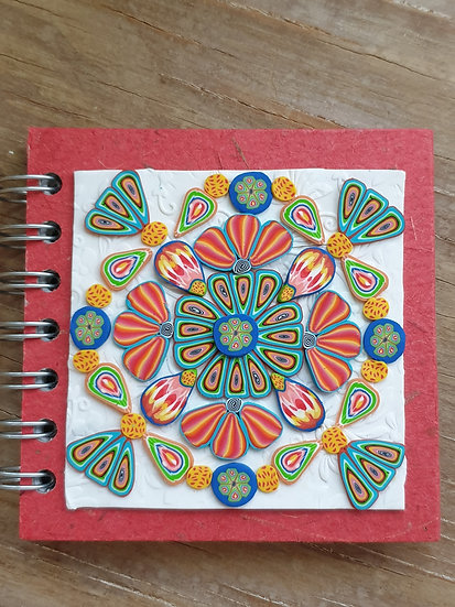 Small Red Floral Journal