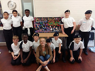 The sea cadets and Gill from Gill's Clay Creations worked together to make this Polymer Clay picture.