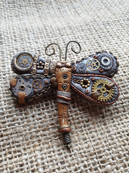 Dragonfly Steam Punk Pin
