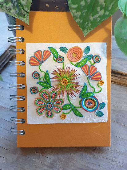 Tangerine Floral Journal