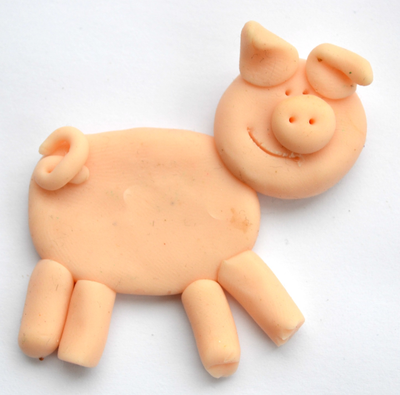 Pig fridge magnet