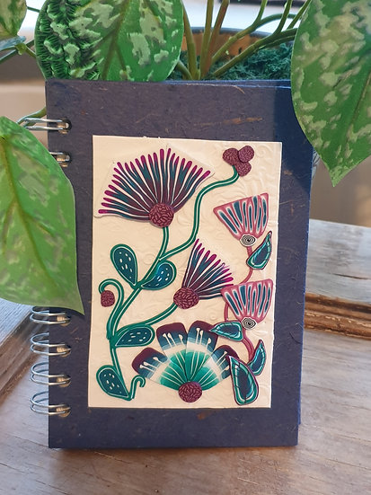 Navy Floral Journal