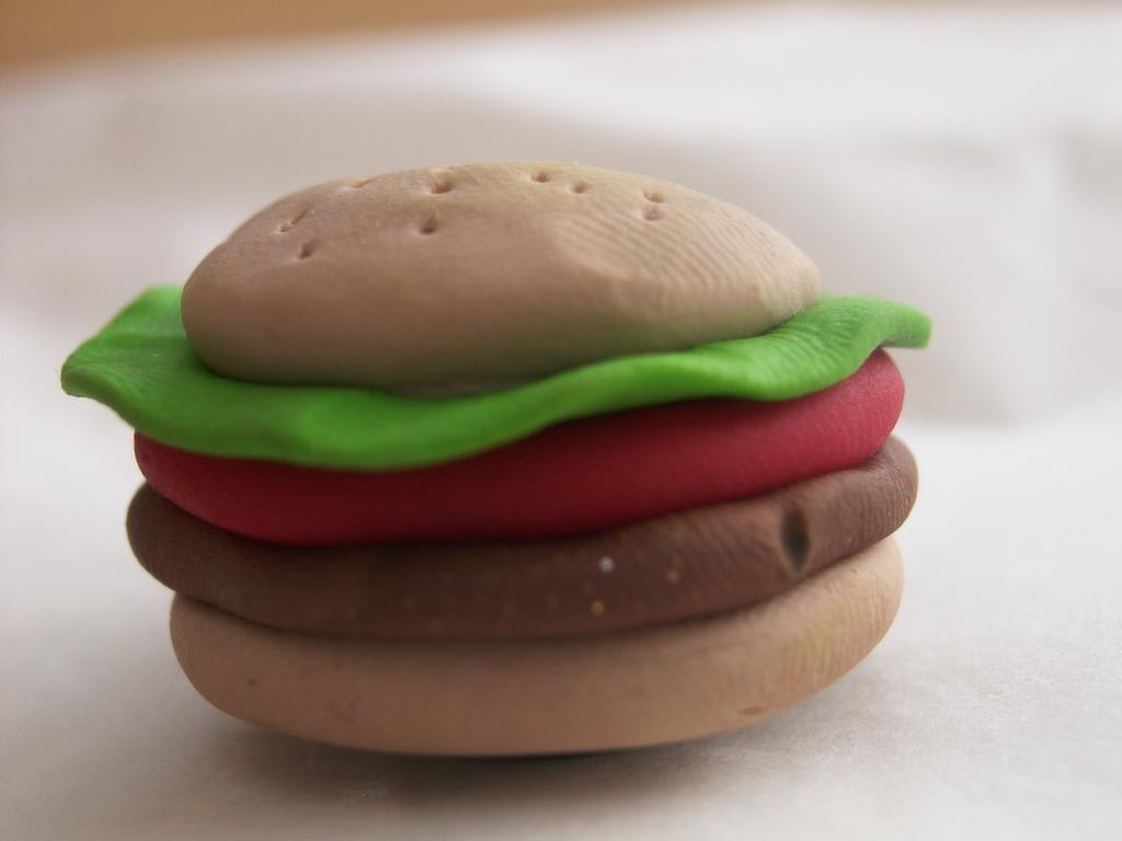 Burger Fridge Magnet