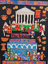 The Romans was made by children at St Marys Catholic Primary School in Rochdale, with help from Gill's Clay Creations