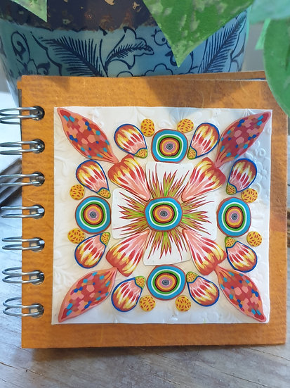 Small Tangerine Floral Journal