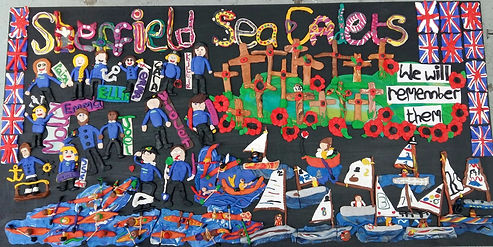 Gill's Clay Creations worked for Ignite Imaginations and the Sheffield Sea Cadets and created this wonderful clay picture.