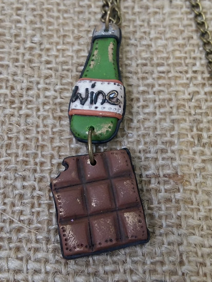 Wine and Chocolate Pendant