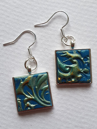 Turquoise Swirl Ear Rings