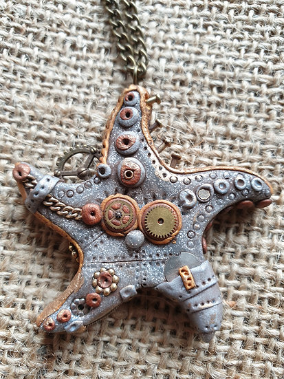 Steam Punk Starfish Pendant