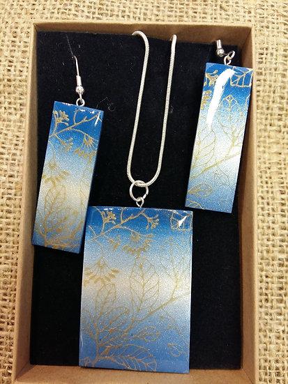 Silk Screened Nature Jewellery Set