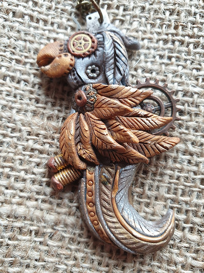 Steam Punk Parrot Pendant
