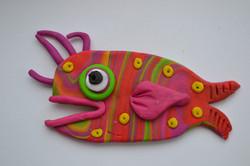 Stripy Fish Fridge Magnet