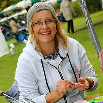 Gill from Gill's Clay Creations busy demonstrating