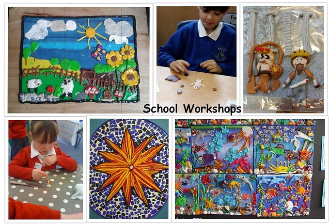 I am proud to say I am the only artist who works with Fimo that provides workshops in schools.