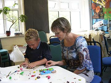 Wood fold Primar School in Wigan art clss
