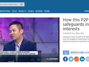 "CNBC: ""How this P2P platform safeguards investors' interests"""