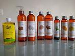Différentes huiles de massage professionnelles