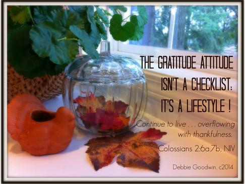 The Gratitude Attitude