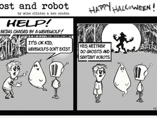 Ghost and Robot Halloween