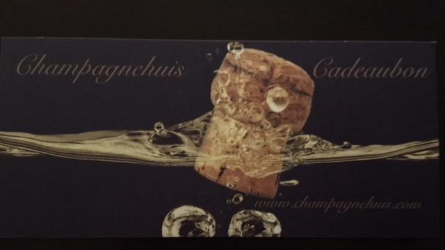 Een mooi geschenk: een waardebon van Champagnehuis.