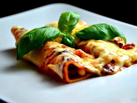 Cheat cannelloni with spinach and ricotta