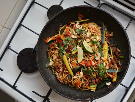 Honey beef stir-fry & noodles