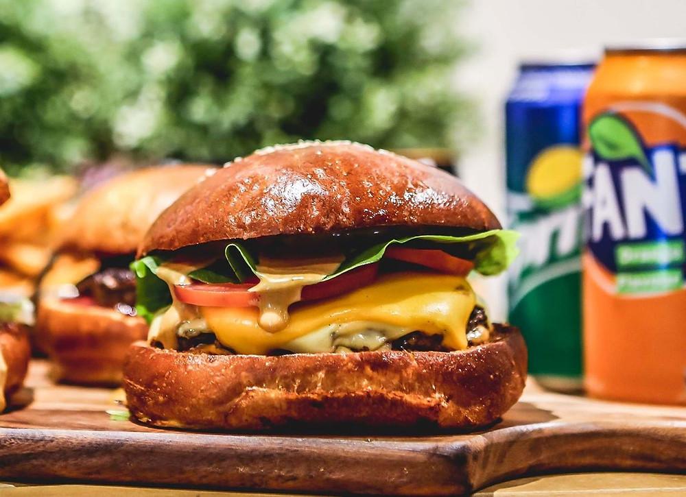 The Resistance Cafe burger