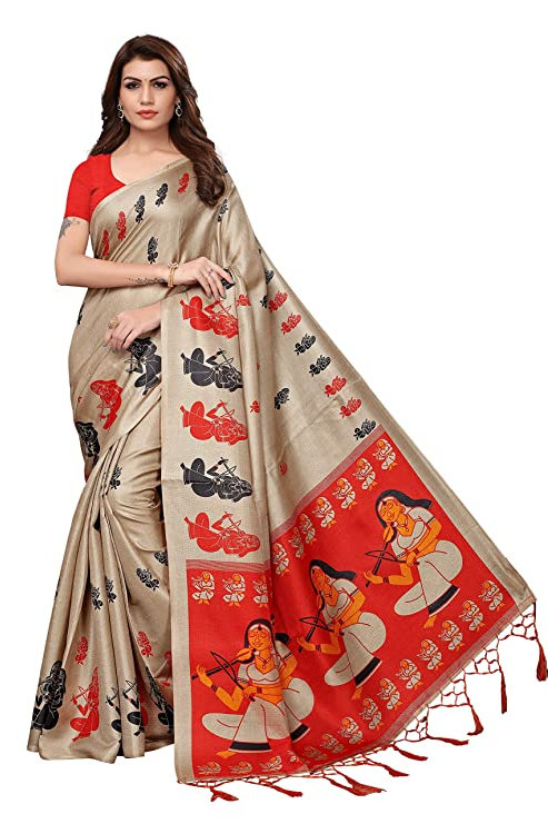 Khadi Silk With Blouse Piece Saree
