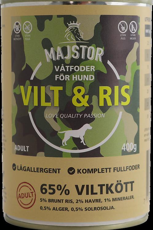 Majstor Vilt & Ris, Våtfoder