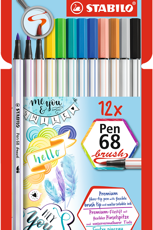 Stabilo Pen68 brush Set