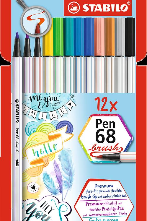 Stabilo Pen68 brush Set