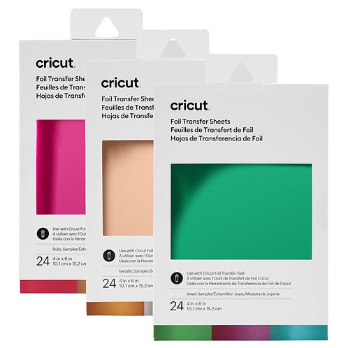 "Cricut Foil Transfer Sheets Sampler 4 x 6"""