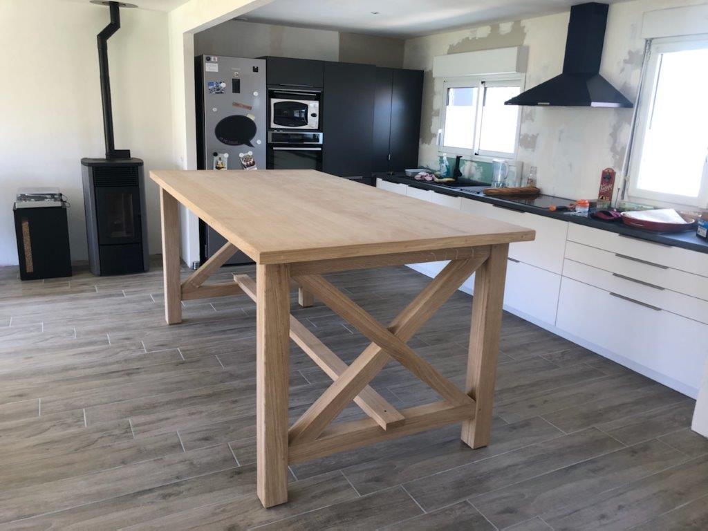 Table et pieds en chêne