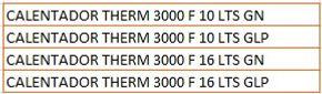 Calentador Therm 3000 F Bosch SOEFI SAS