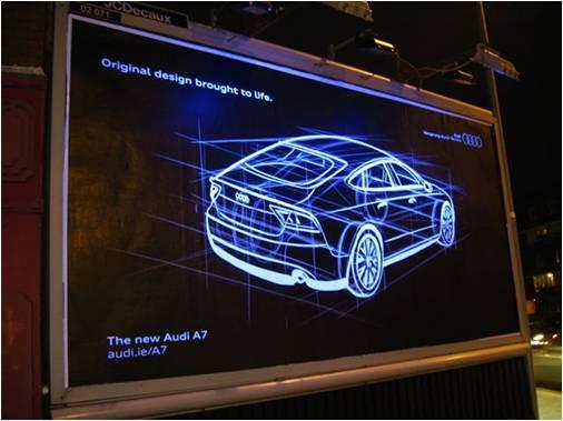 Glow in the Dark Audi