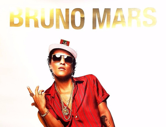Liquid Gold Print for Bruno Mars