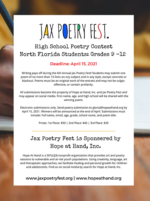 High School Poetry Contest North Florida