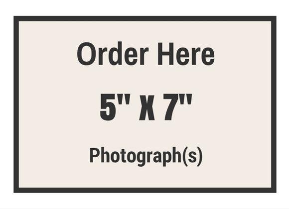 "5"" x 7"" Photograph(s)"