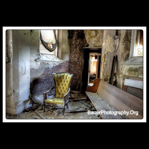 Fancy Yellow Chair - Ababdoned Church