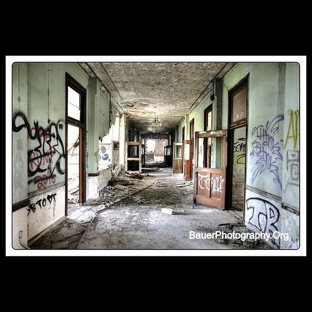Abandoned High School Hallway