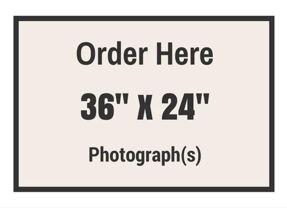 "36"" x 24"" Photograph(s)"