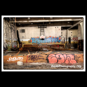 Abandoned High School Deformed B-Ball Court