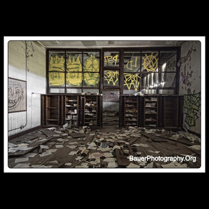 Abandoned High School Library