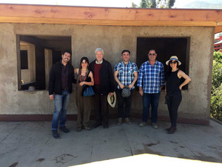 Visita del arquitecto Alemán Gernot Minke en Ayma