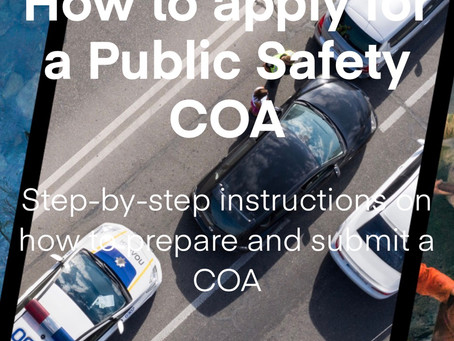 How to apply for a Public Safety COA - FREE COURSE